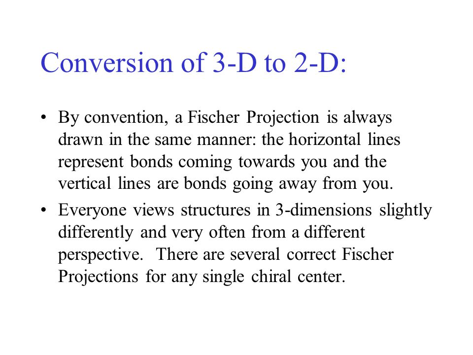 Conversion of 3-D to 2-D: