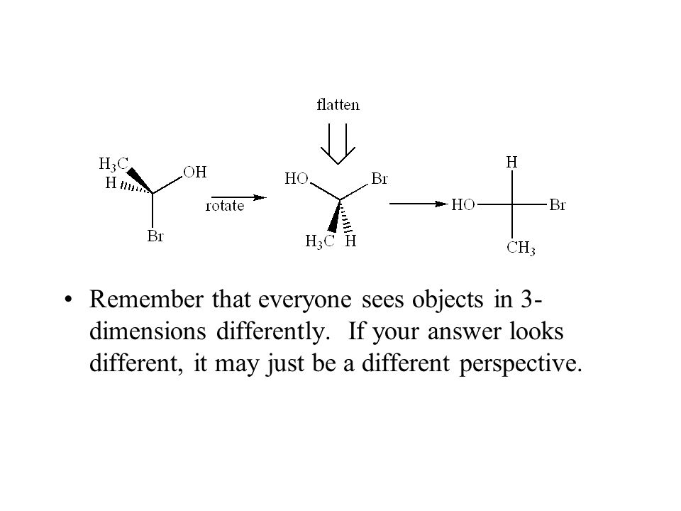 Remember that everyone sees objects in 3-dimensions differently