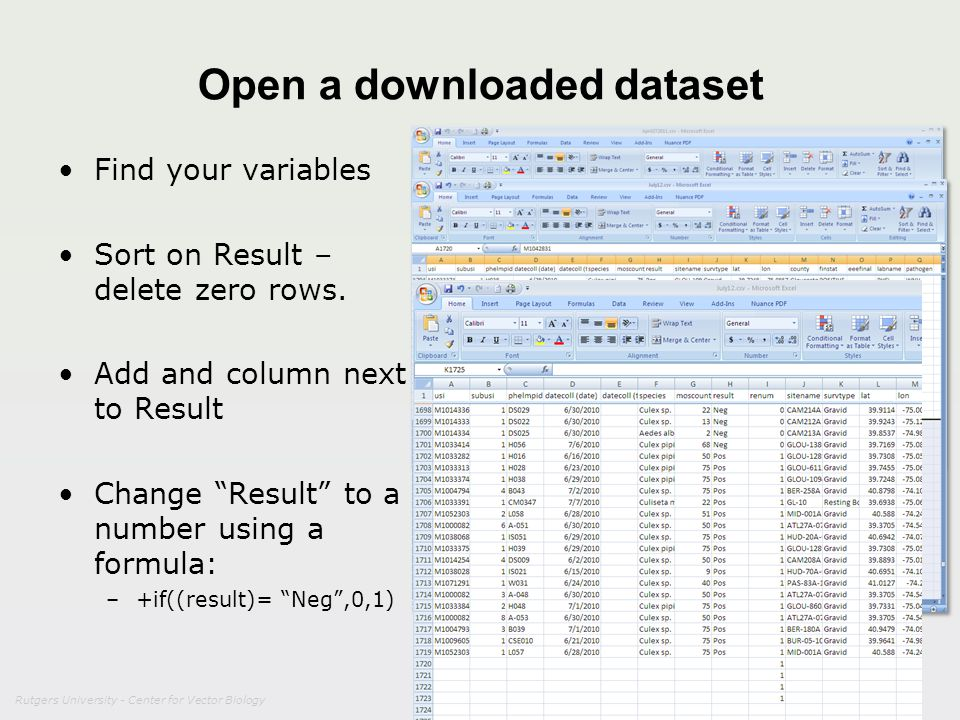 Open a downloaded dataset