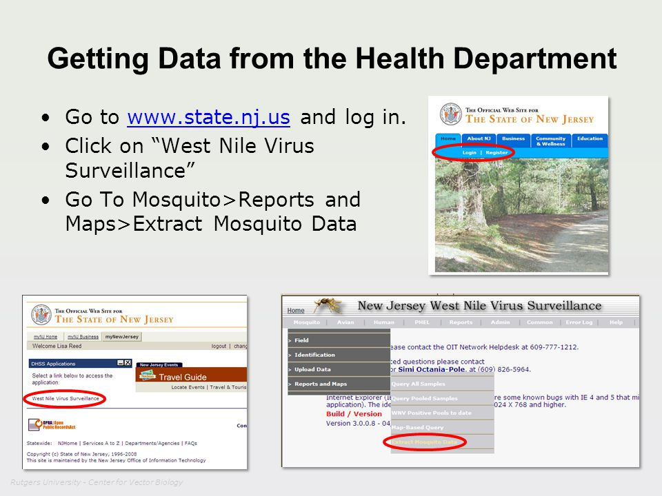 Getting Data from the Health Department