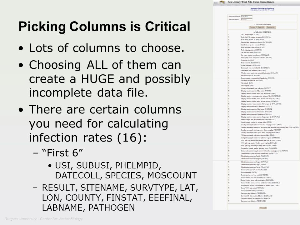Picking Columns is Critical