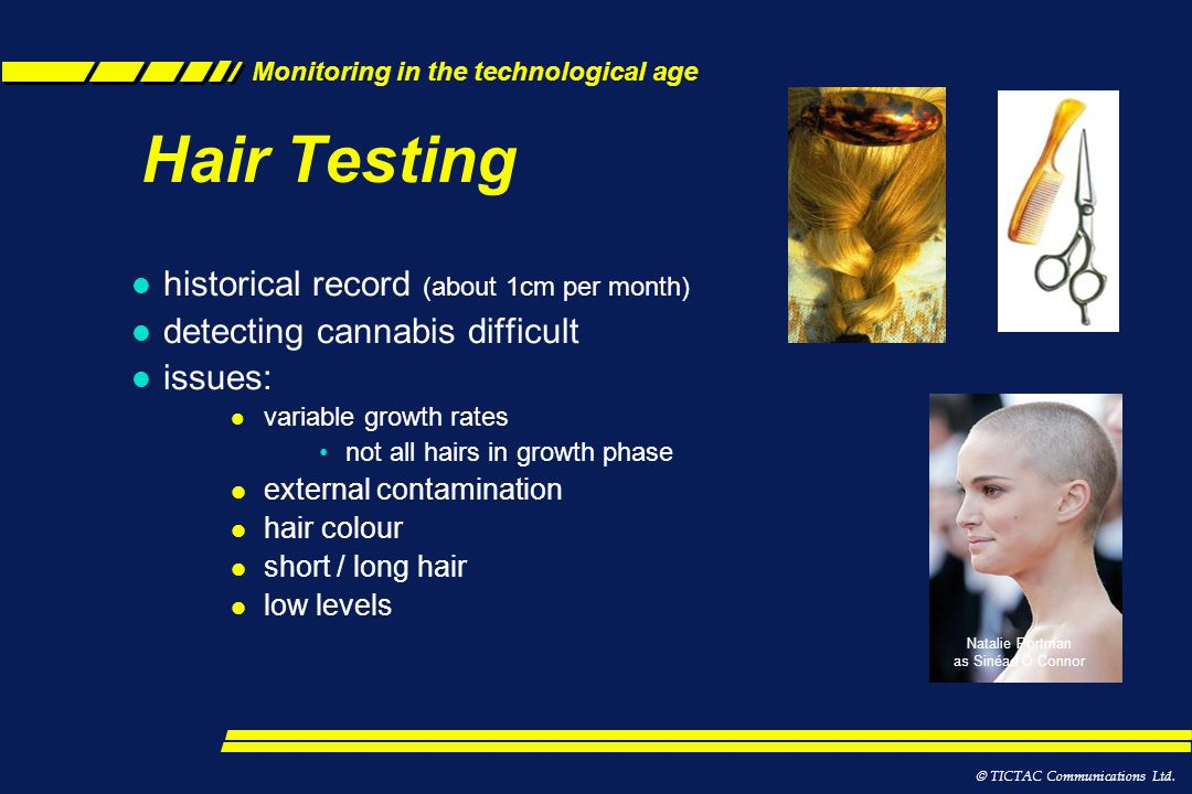Hair Testing historical record (about 1cm per month)