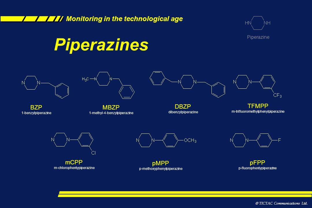 Piperazines BZP MBZP DBZP TFMPP m-trifluoromethylphenylpiperazine mCPP