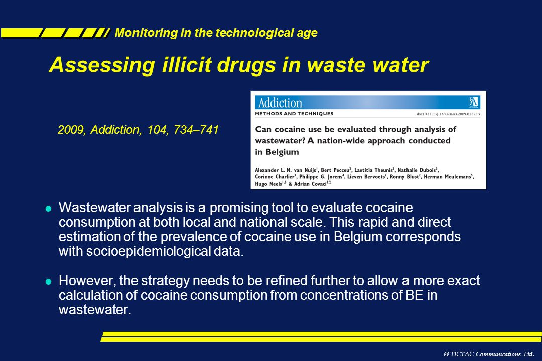 Assessing illicit drugs in waste water