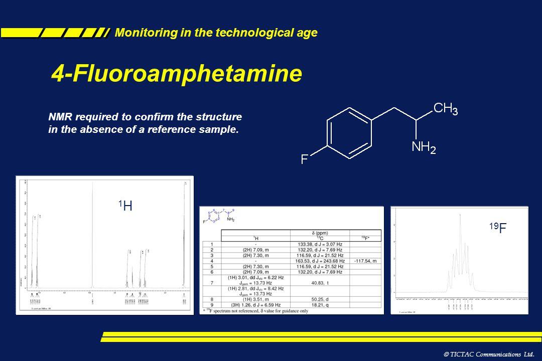 4-Fluoroamphetamine 1H 19F