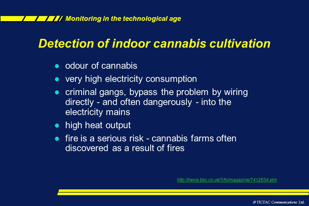 Detection of indoor cannabis cultivation