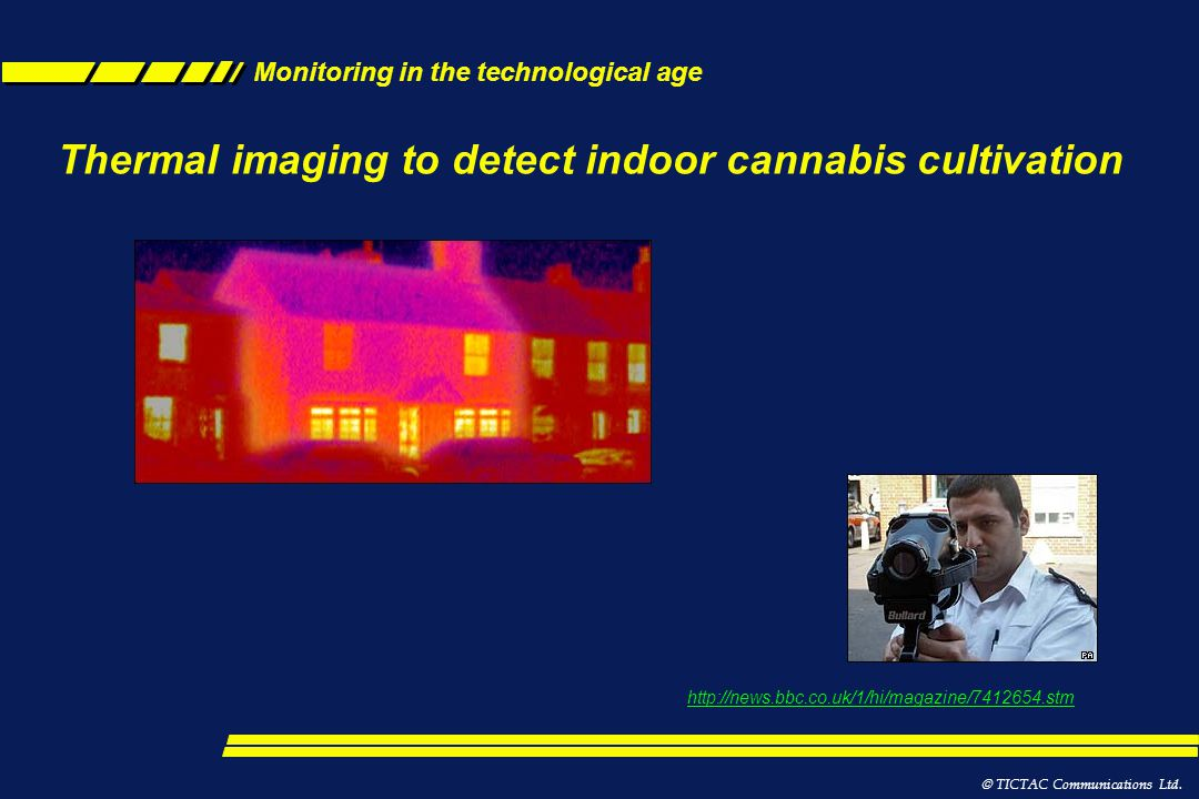 Thermal imaging to detect indoor cannabis cultivation