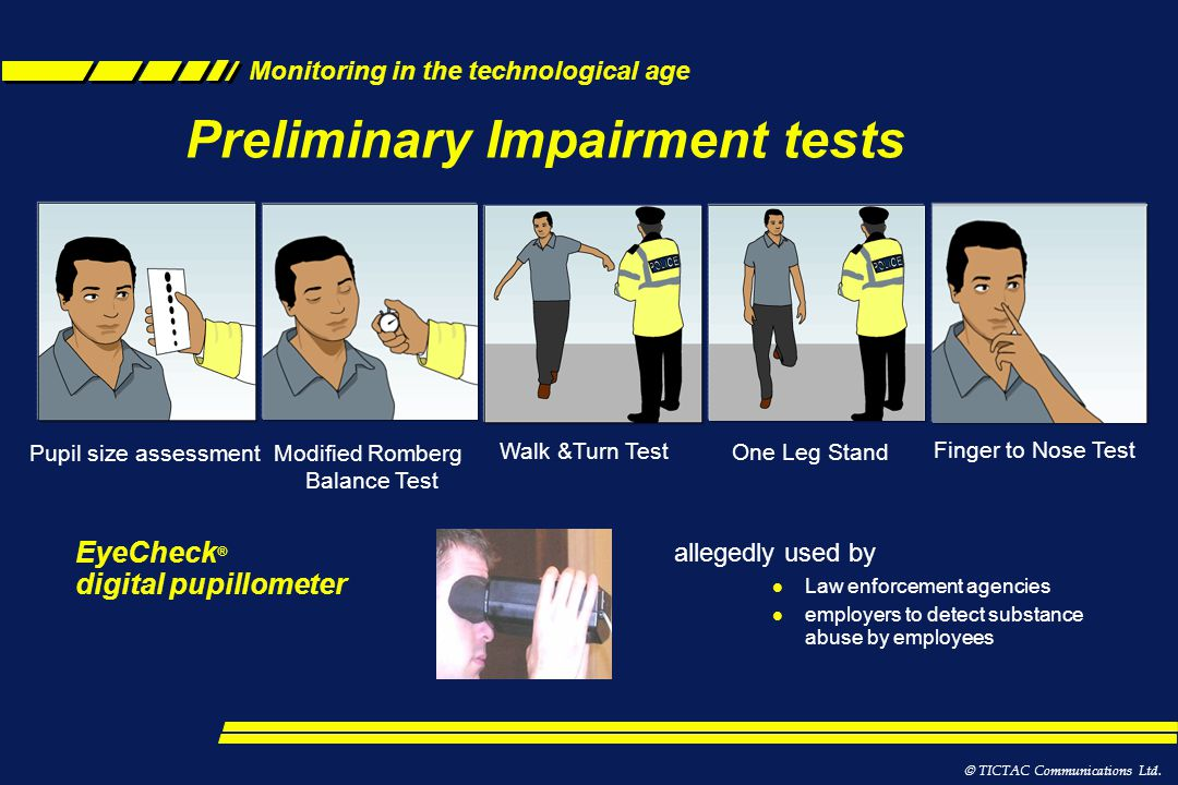 Preliminary Impairment tests