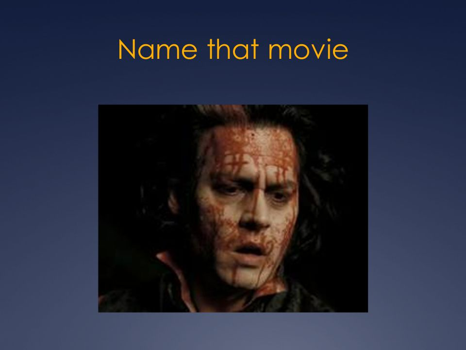 Name that movie Sweeny Todd