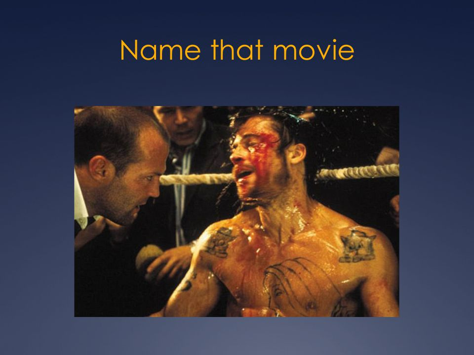 Name that movie Snatch (parkie fight scene at the end)