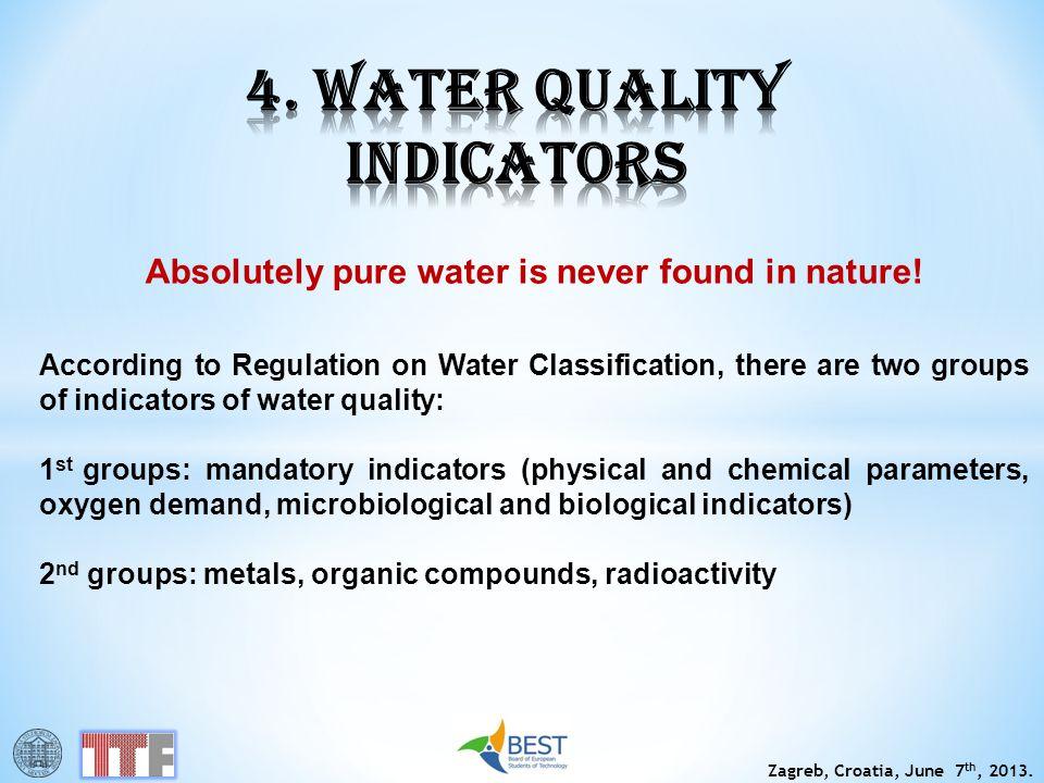 4. WATER QUALITY INDICATORS