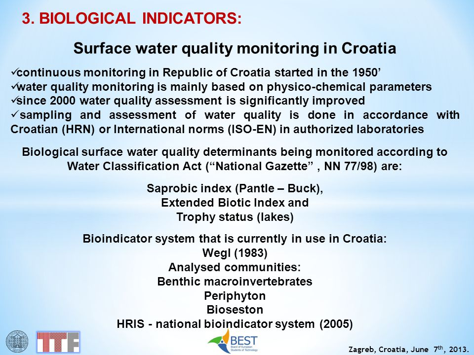 Surface water quality monitoring in Croatia
