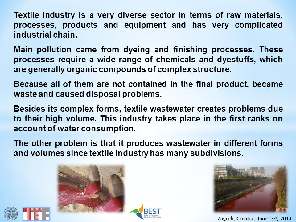 Textile industry is a very diverse sector in terms of raw materials, processes, products and equipment and has very complicated industrial chain.