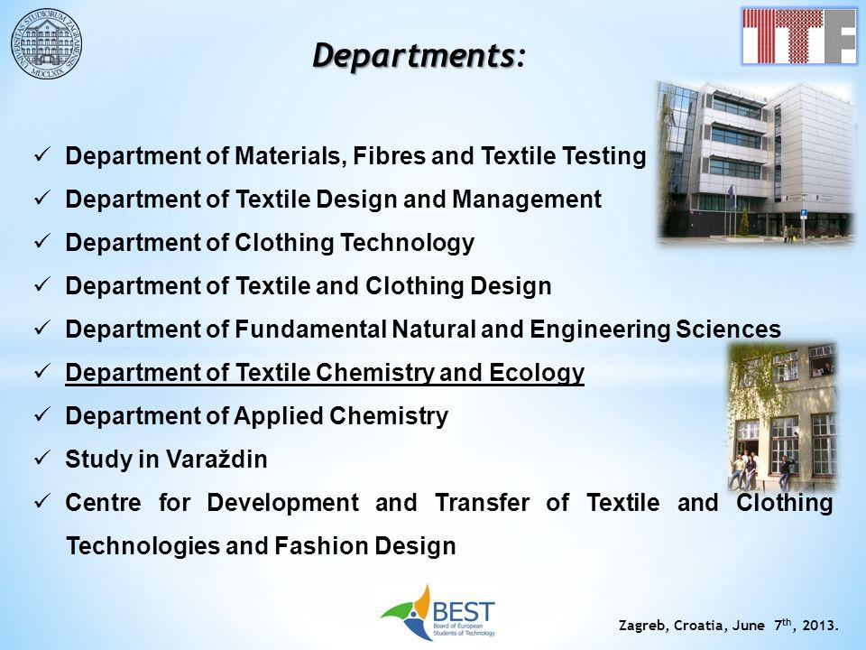 Departments: Department of Materials, Fibres and Textile Testing