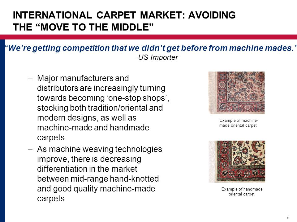 INTERNATIONAL CARPET MARKET: AVOIDING THE MOVE TO THE MIDDLE