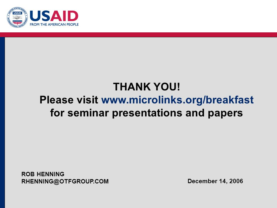 THANK YOU. Please visit www. microlinks