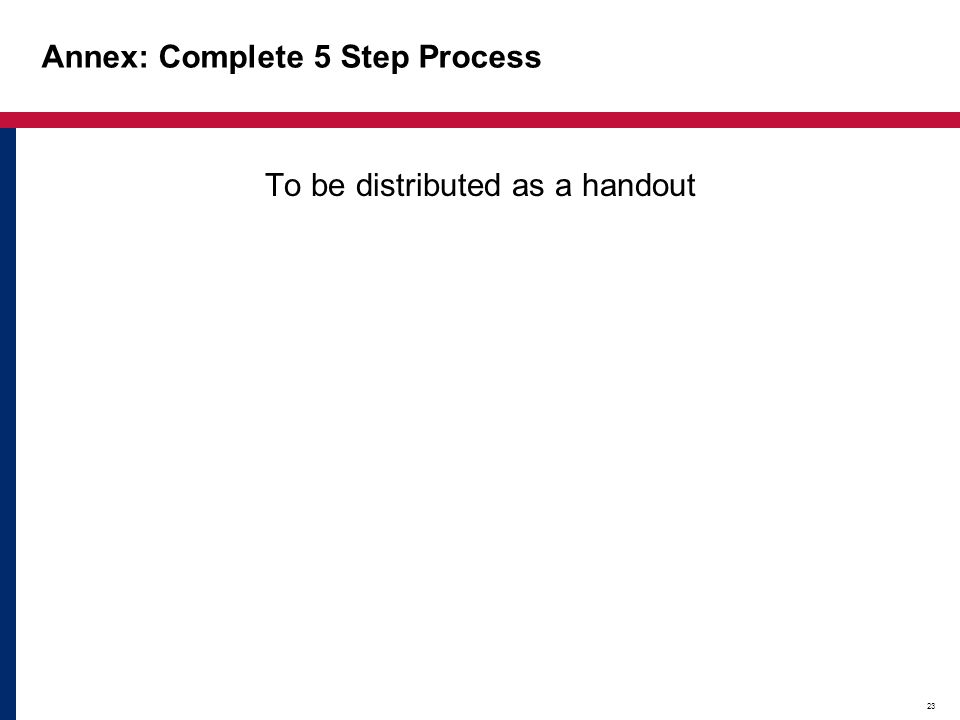 Annex: Complete 5 Step Process