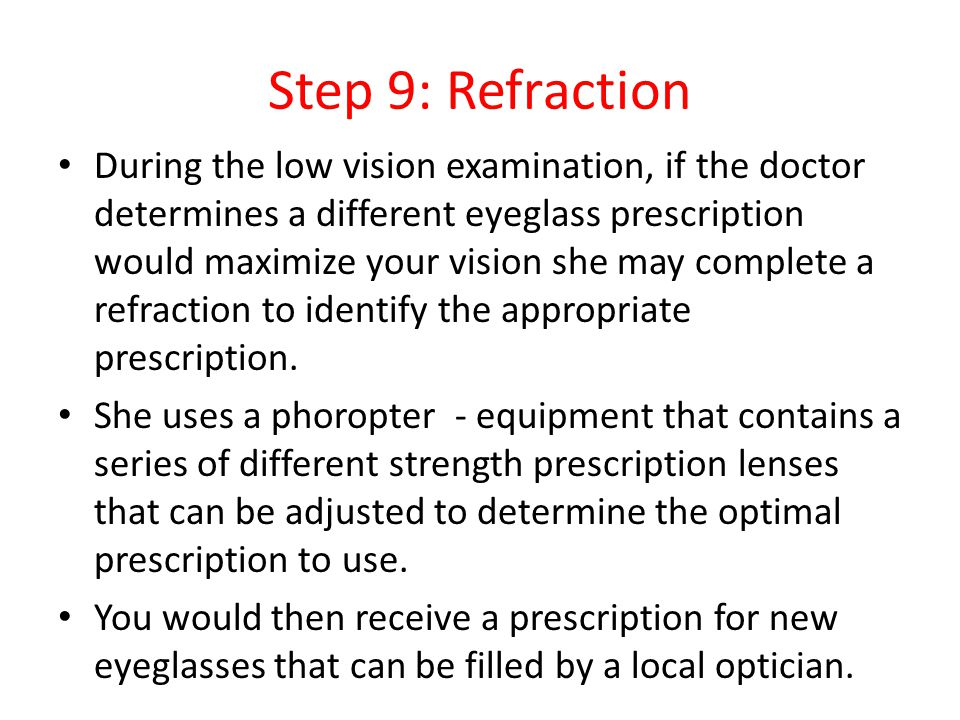 Step 9: Refraction