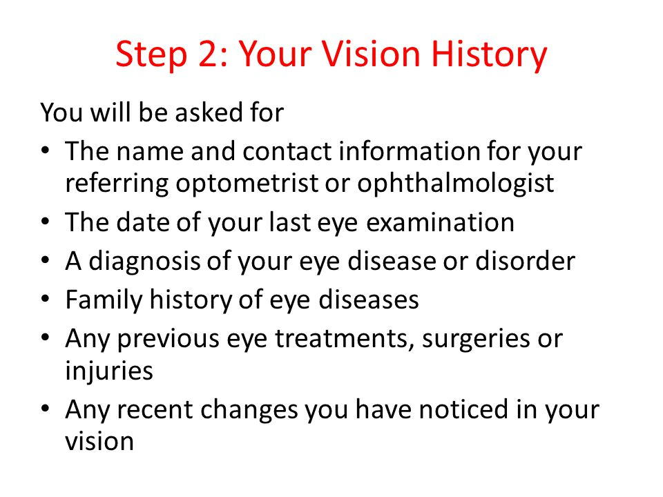 Step 2: Your Vision History