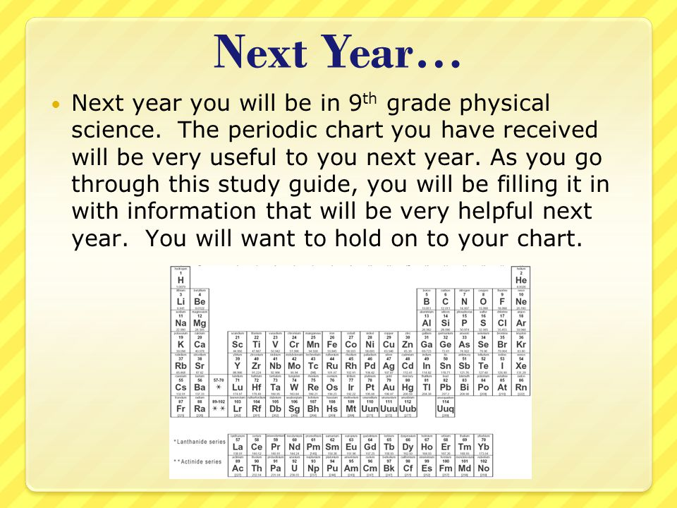 Next Year…