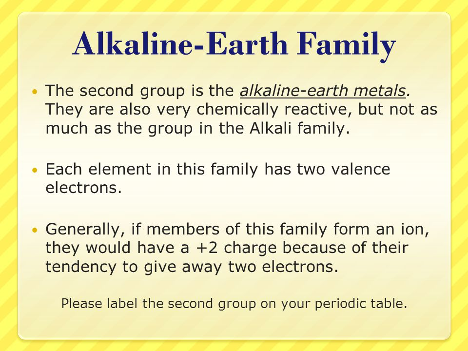 Alkaline-Earth Family
