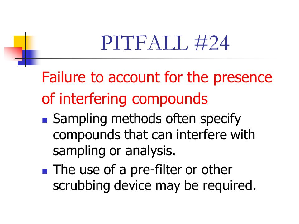 PITFALL #24 Failure to account for the presence