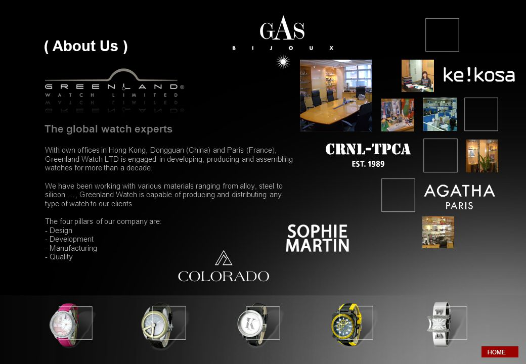 ( About Us ) The global watch experts