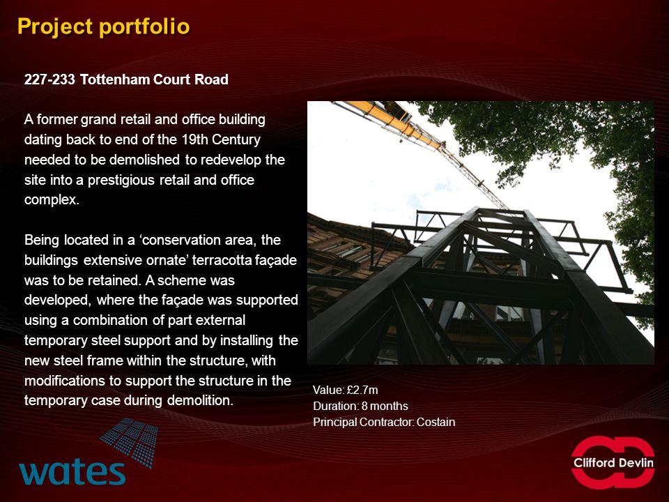 Project portfolio 227-233 Tottenham Court Road