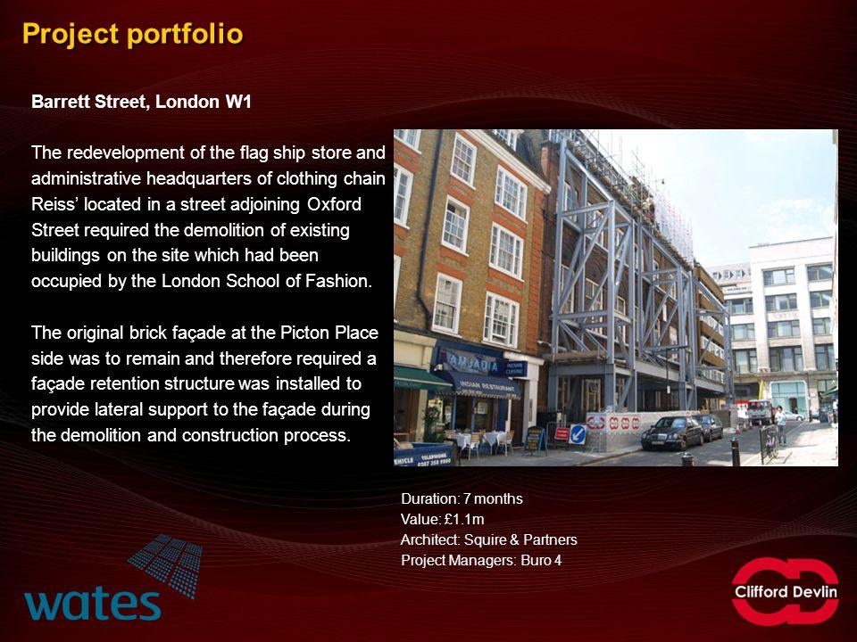 Project portfolio Barrett Street, London W1