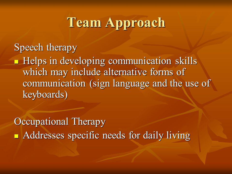 Team Approach Speech therapy