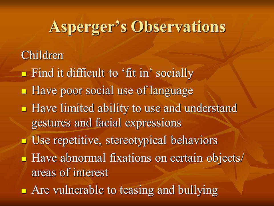Asperger's Observations