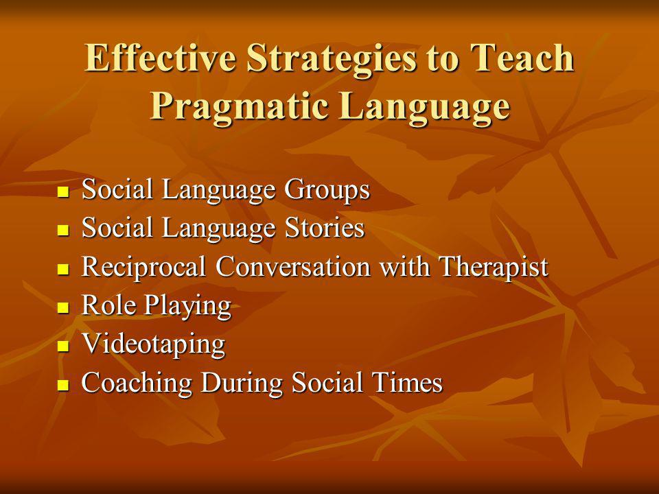 Effective Strategies to Teach Pragmatic Language