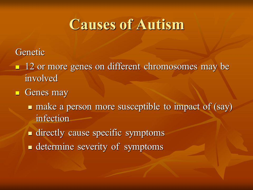 Causes of Autism Genetic