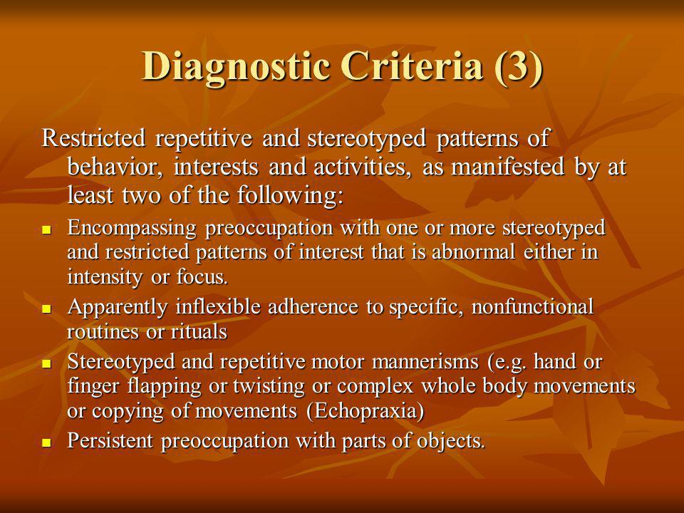 Diagnostic Criteria (3)