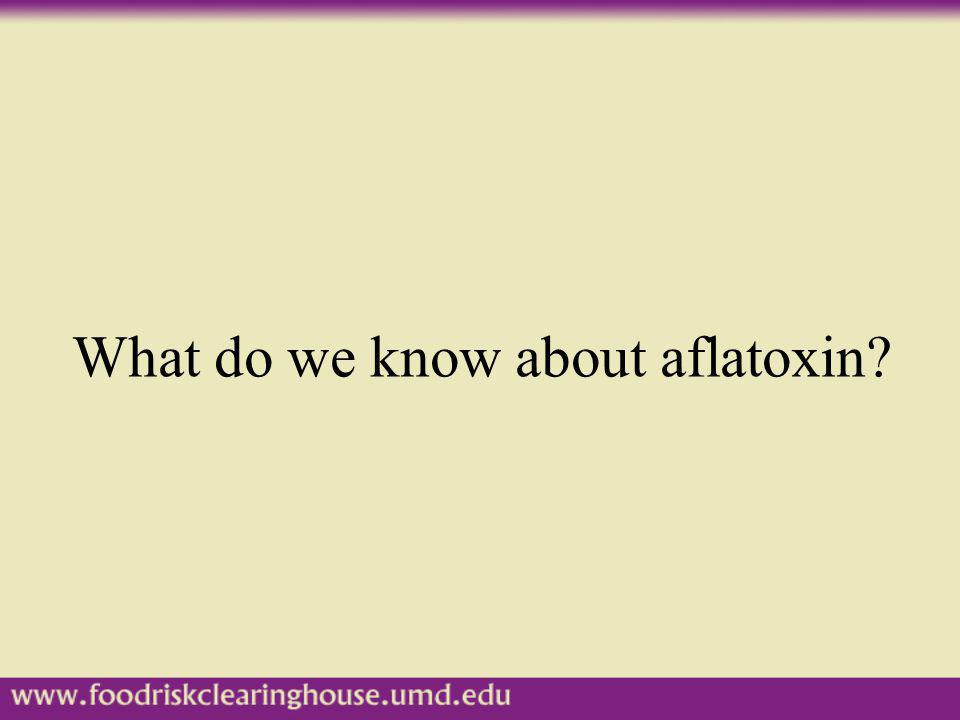 What do we know about aflatoxin