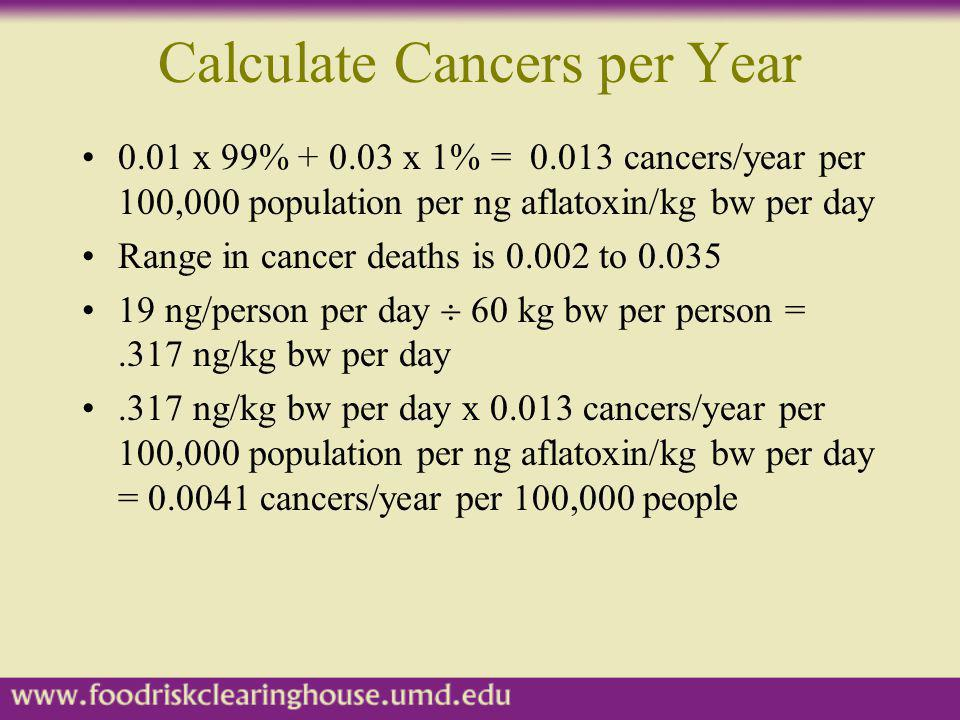 Calculate Cancers per Year