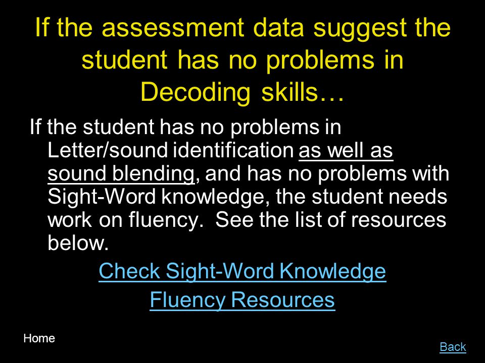 Check Sight-Word Knowledge