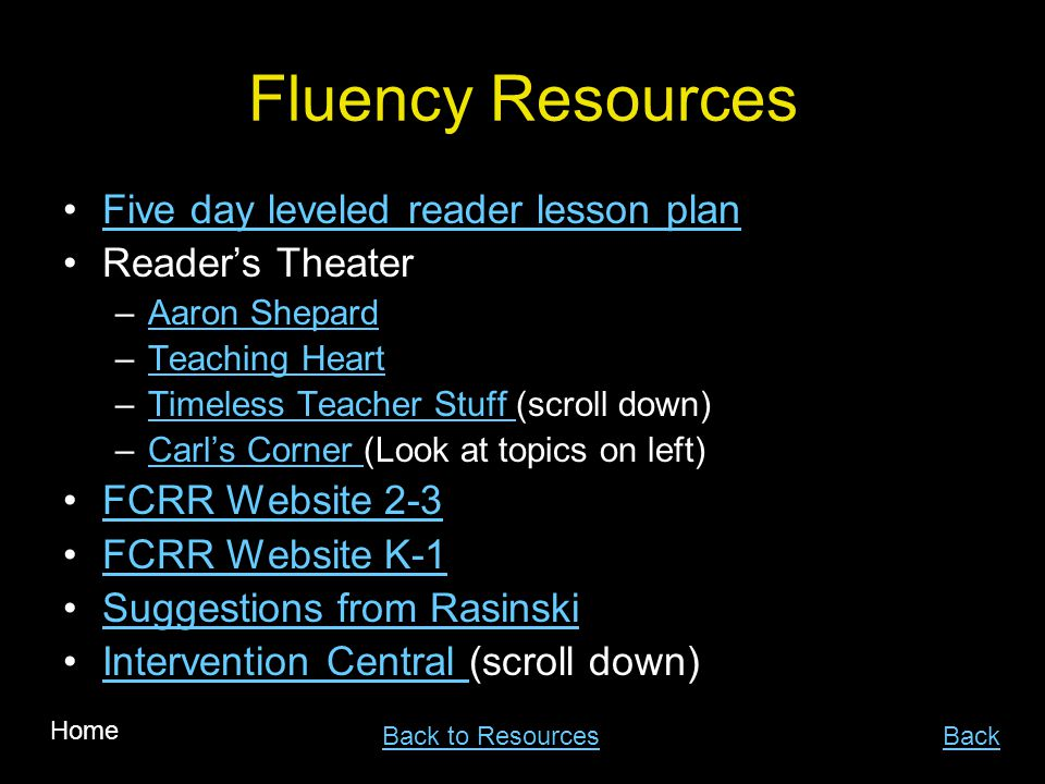 Fluency Resources Five day leveled reader lesson plan Reader's Theater