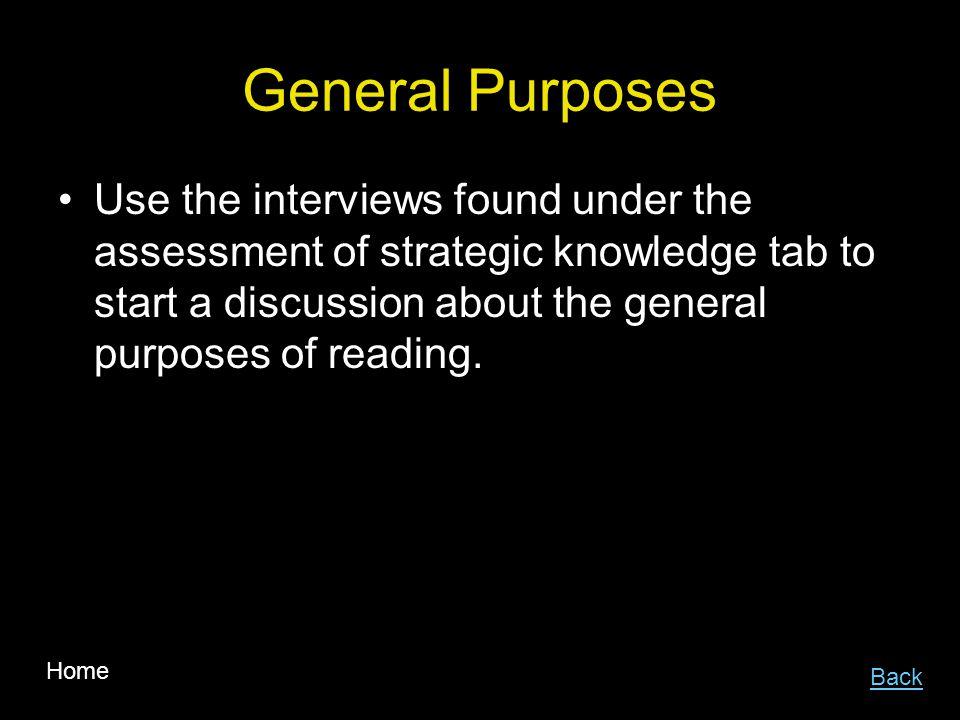 General Purposes