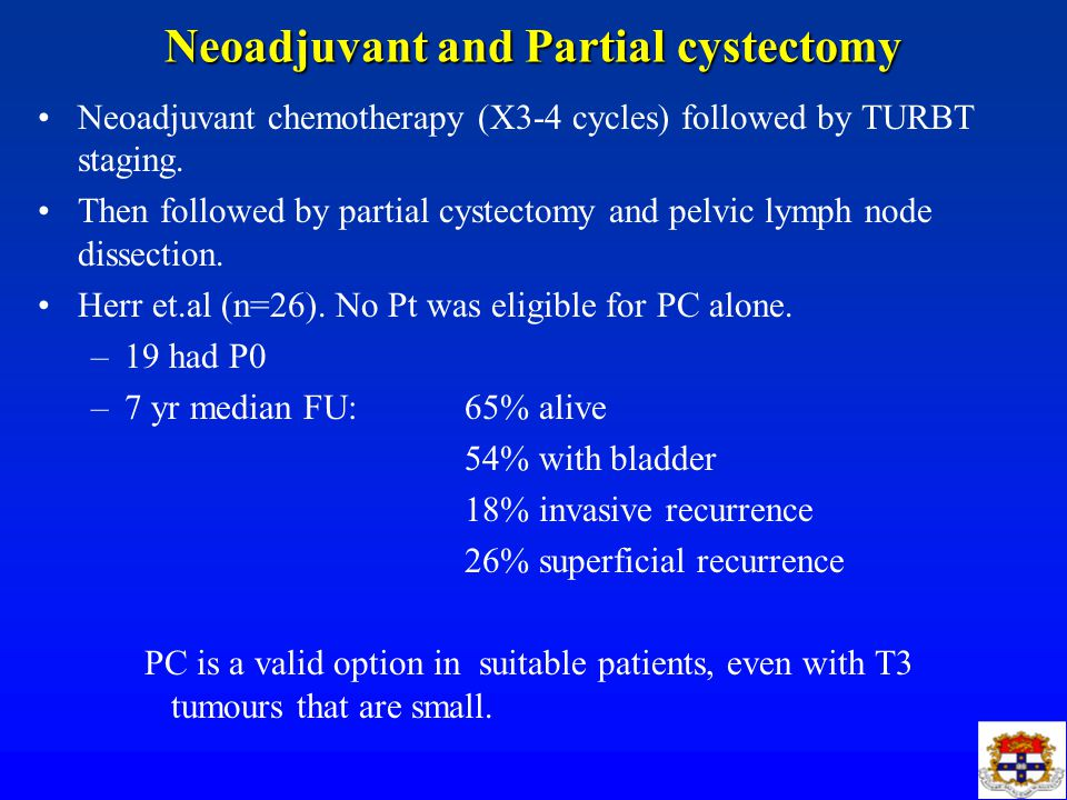 Neoadjuvant and Partial cystectomy