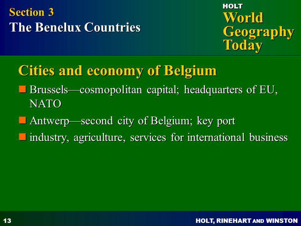 Cities and economy of Belgium