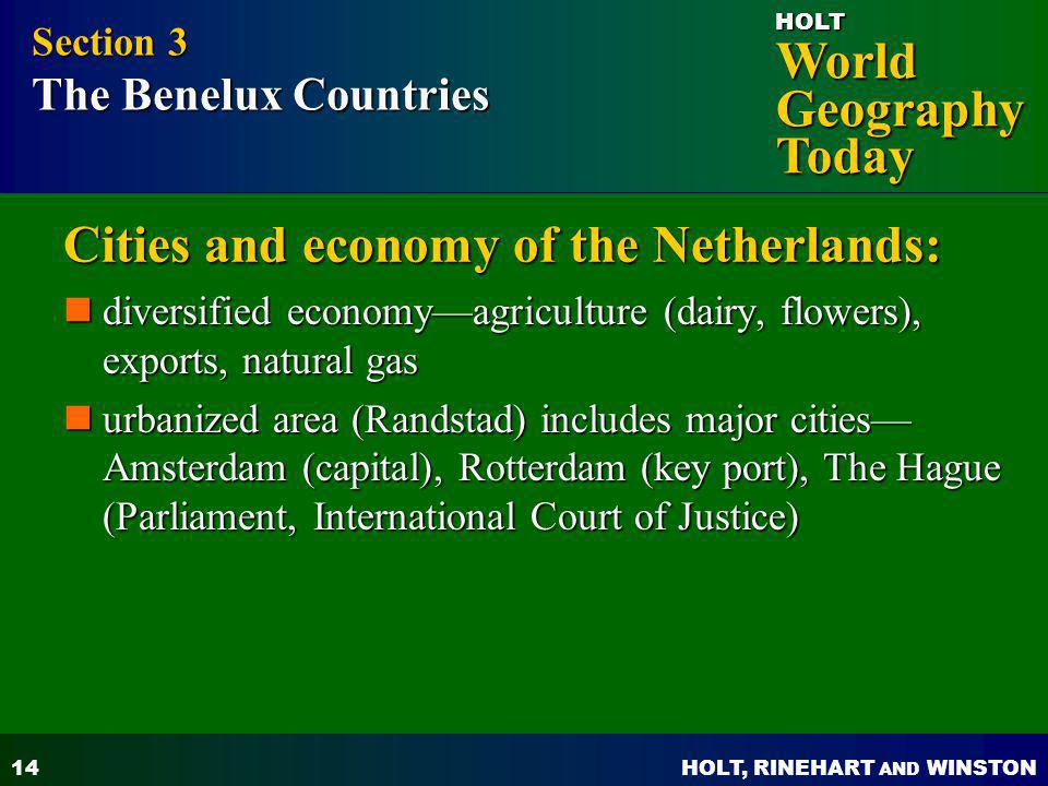 Cities and economy of the Netherlands: