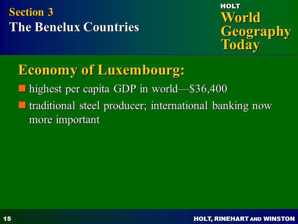 Economy of Luxembourg: