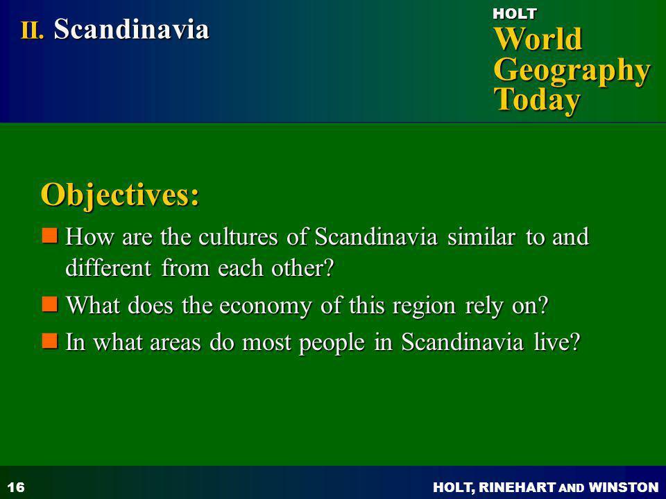 Objectives: II. Scandinavia
