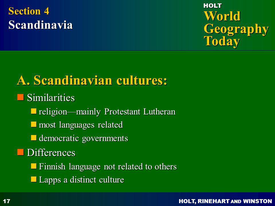 A. Scandinavian cultures: