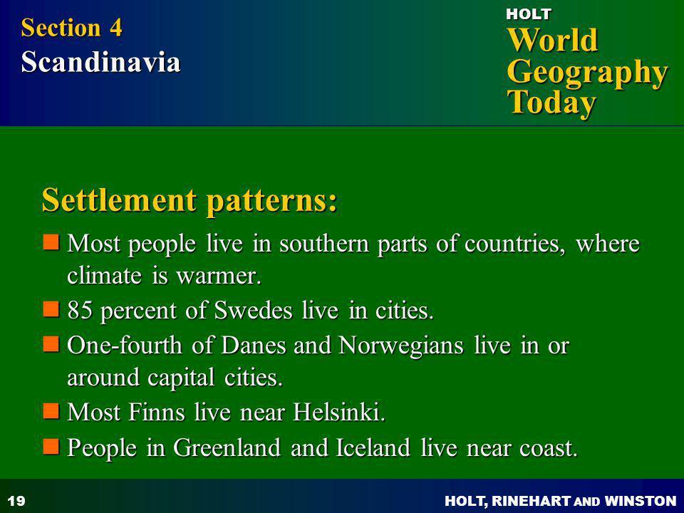 Settlement patterns: Section 4 Scandinavia