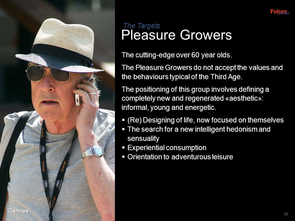 Pleasure Growers The Targets The cutting-edge over 60 year olds.