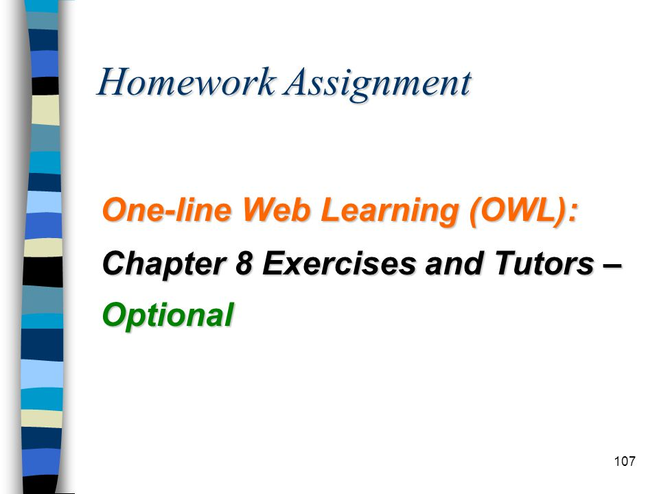 Homework Assignment One-line Web Learning (OWL):