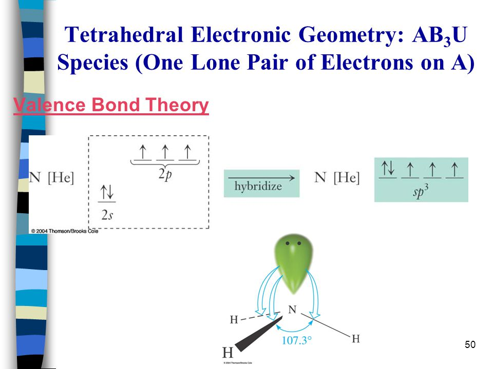 Tetrahedral Electronic Geometry: AB3U Species (One Lone Pair of Electrons on A)
