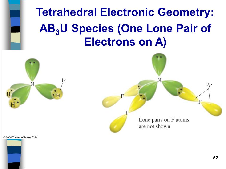 Tetrahedral Electronic Geometry: